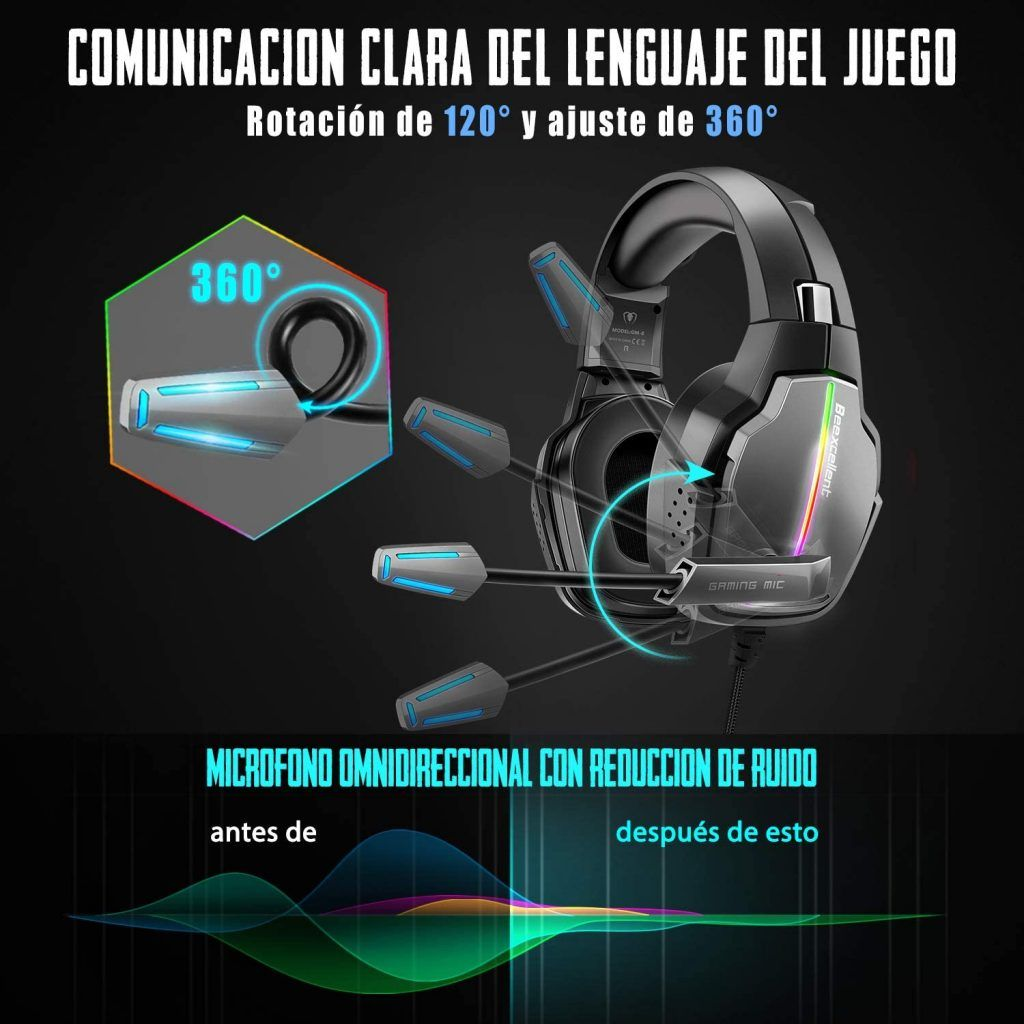 Cascos Gaming PS5 Beexcelent 2